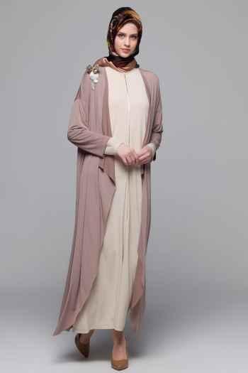 En Şık Armine Tesettür Elbise Modelleri