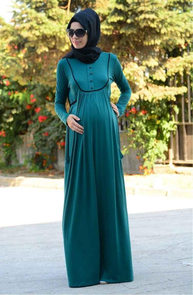 En Şık Sefamerve Tesettür Hamile Elbise Modelleri