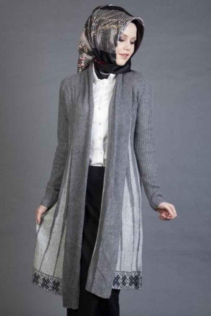 180108e82aecc En Şık Tesettür Hırka Kombinleri - Moda Tesettür Giyim