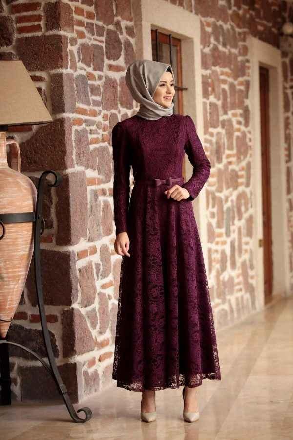 En Şık Tesettür Söz Elbisesi Modelleri