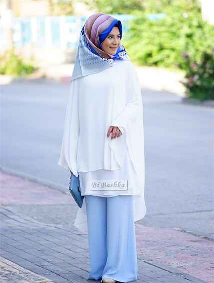 En Güzel Bibashka Dökümlü Tesettür Tunik Modelleri