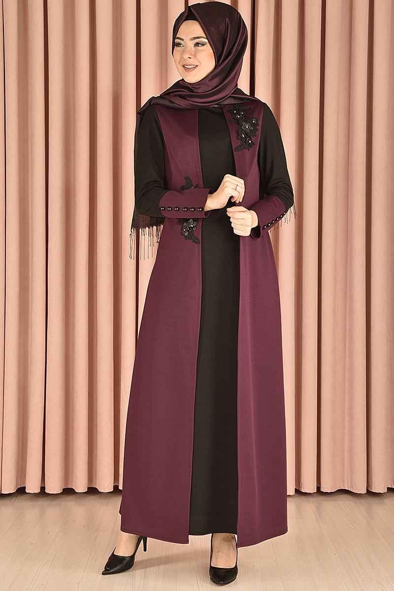 En Güzel Modamerve Tesettür Elbise Modelleri