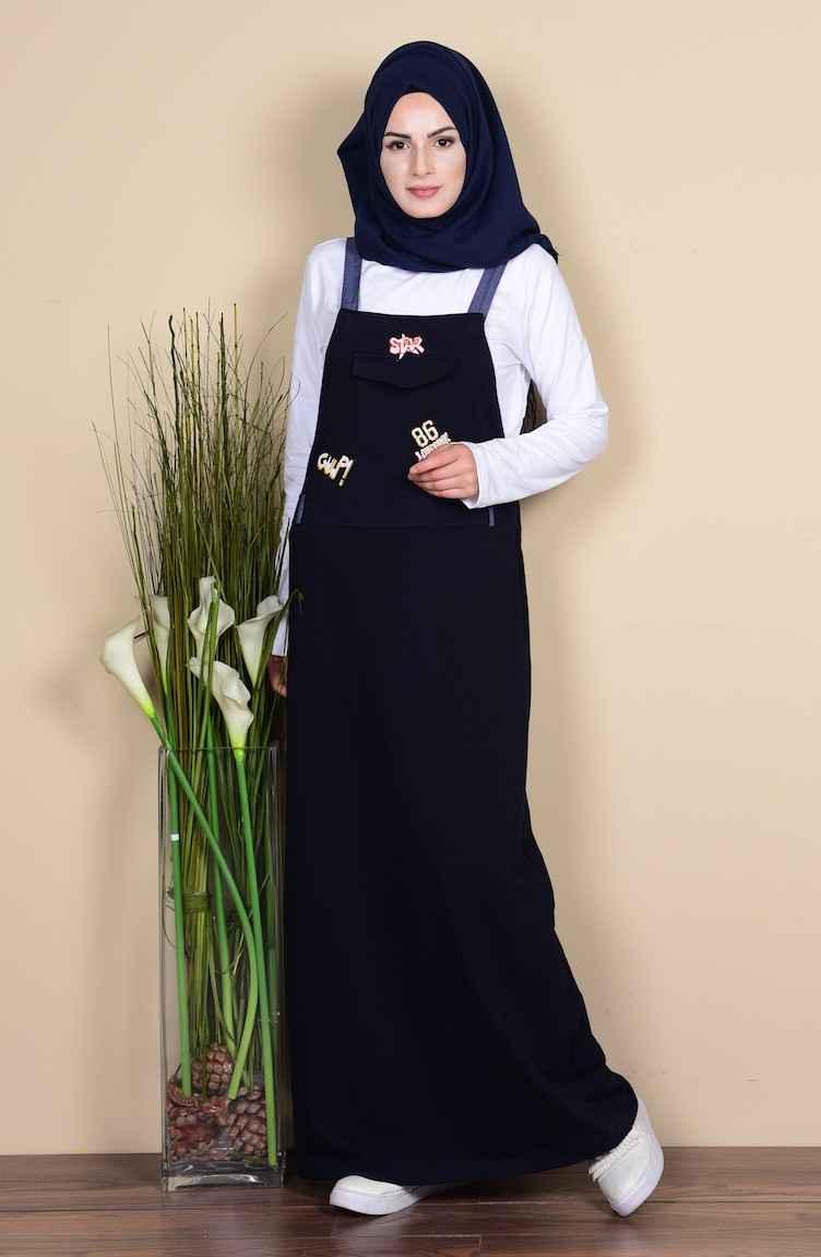 En Güzel Sefamerve Tesettür Salopet Elbise Modelleri