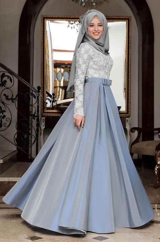 En Güzel Tesettür Söz Elbisesi Modelleri