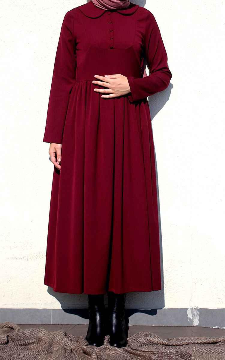 Fulyan Bebe Yaka Tesettür Elbise Modelleri