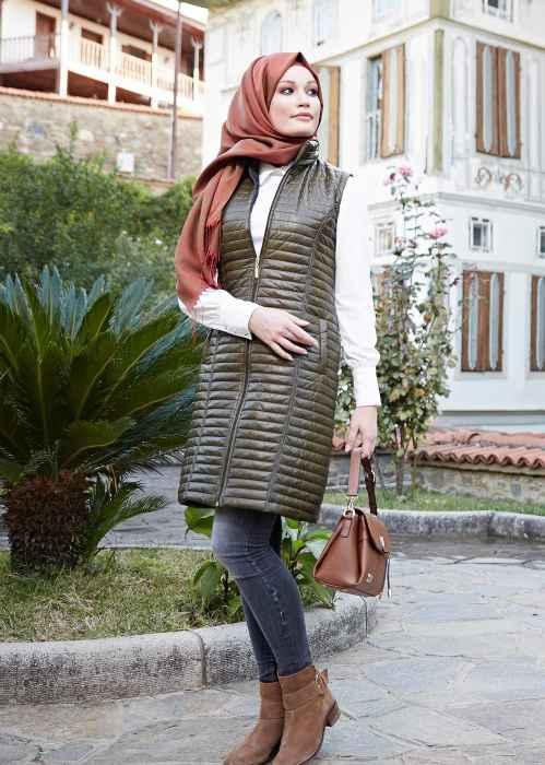 67ad097847de5 Günlük Tesettür Kışlık Kıyafet Kombinleri - Moda Tesettür Giyim