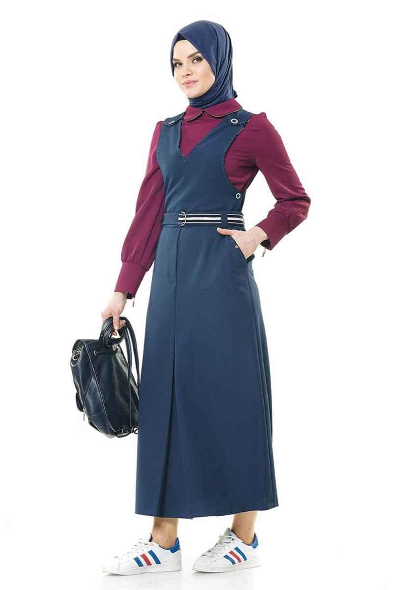 Kayra Tesettür Salopet Pileli Elbise Modelleri