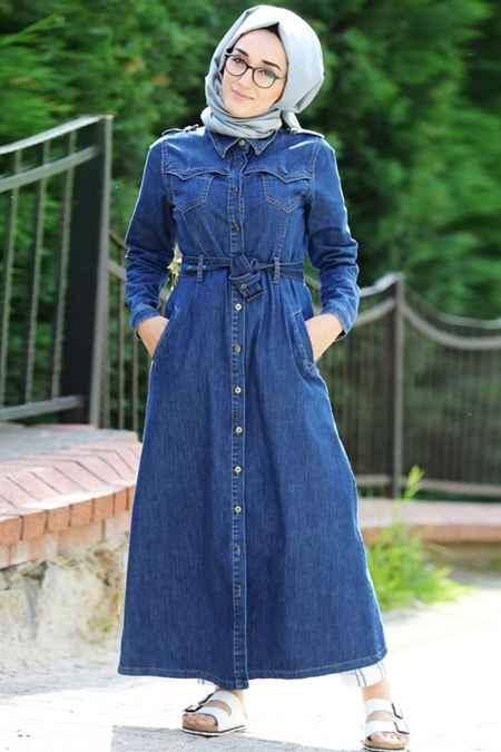 Mihrinisa Tesettür Kot Gömlek Modelleri