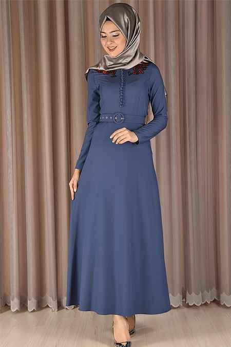 Modamerve Modern Tesettür Elbise Modelleri