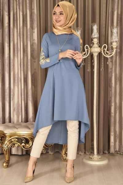 Modamerve Nakış İşlemeli Tunik Modelleri
