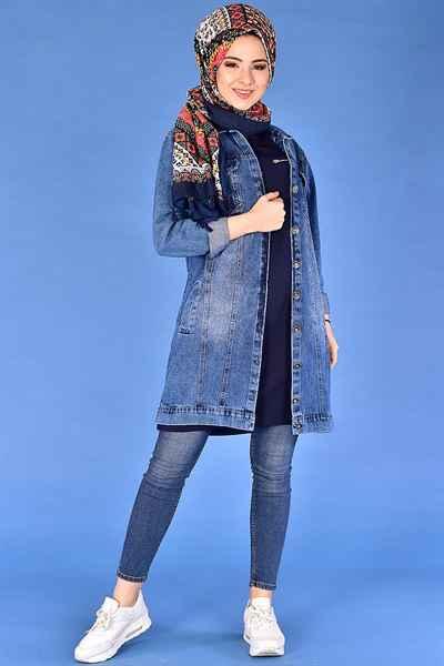 Modamerve Tesettür Uzun Kot Ceket Modelleri