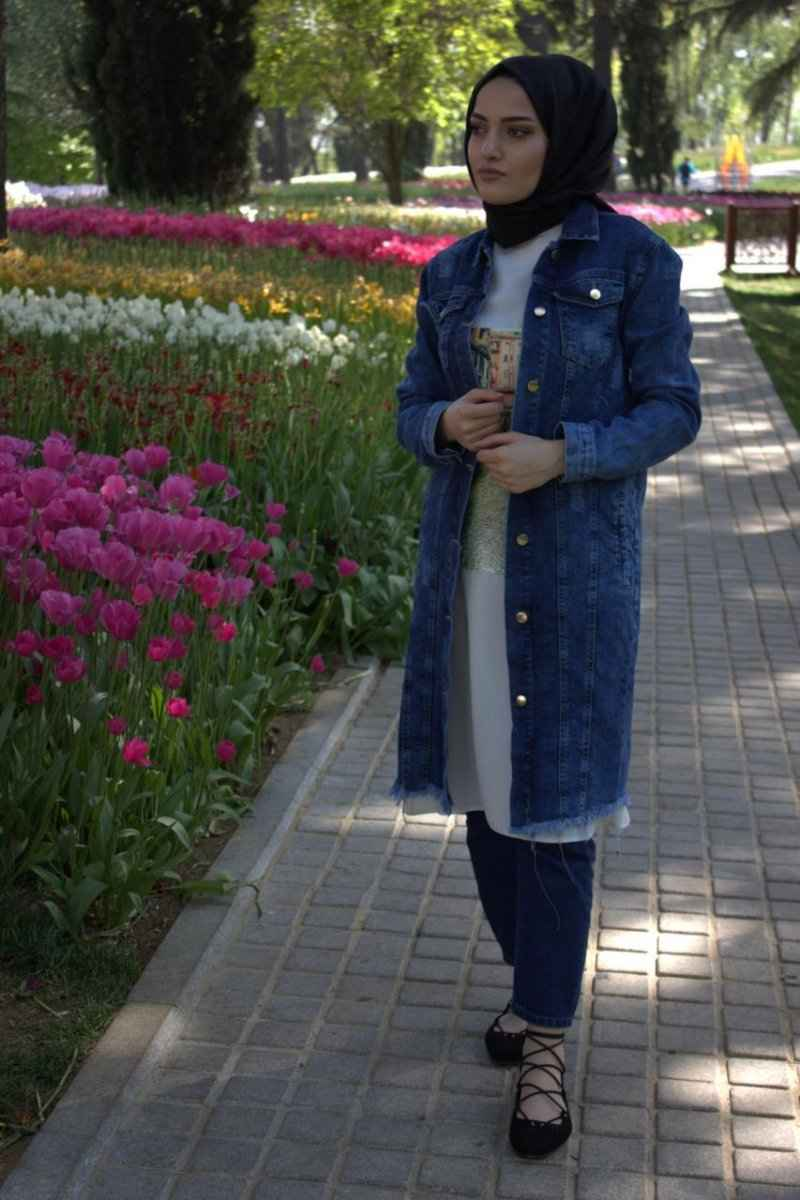 Modamim Tesettür Uzun Kot Ceket Modelleri