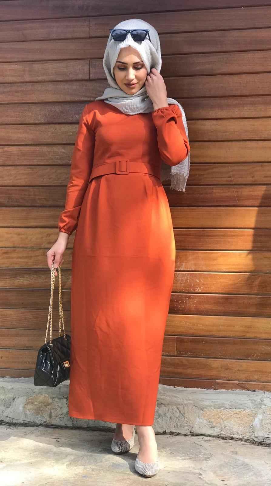 Modaonur Şık Tesettür Kalem Elbise Modelleri