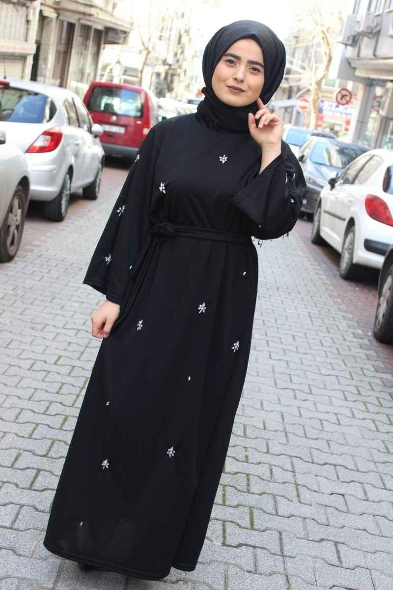 Modaonur Tesettür Taşlı Elbise Modelleri