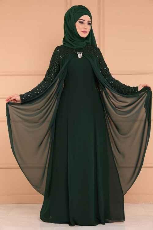 Modaselvim Tesettür Tüllü Abiye Elbise Modelleri