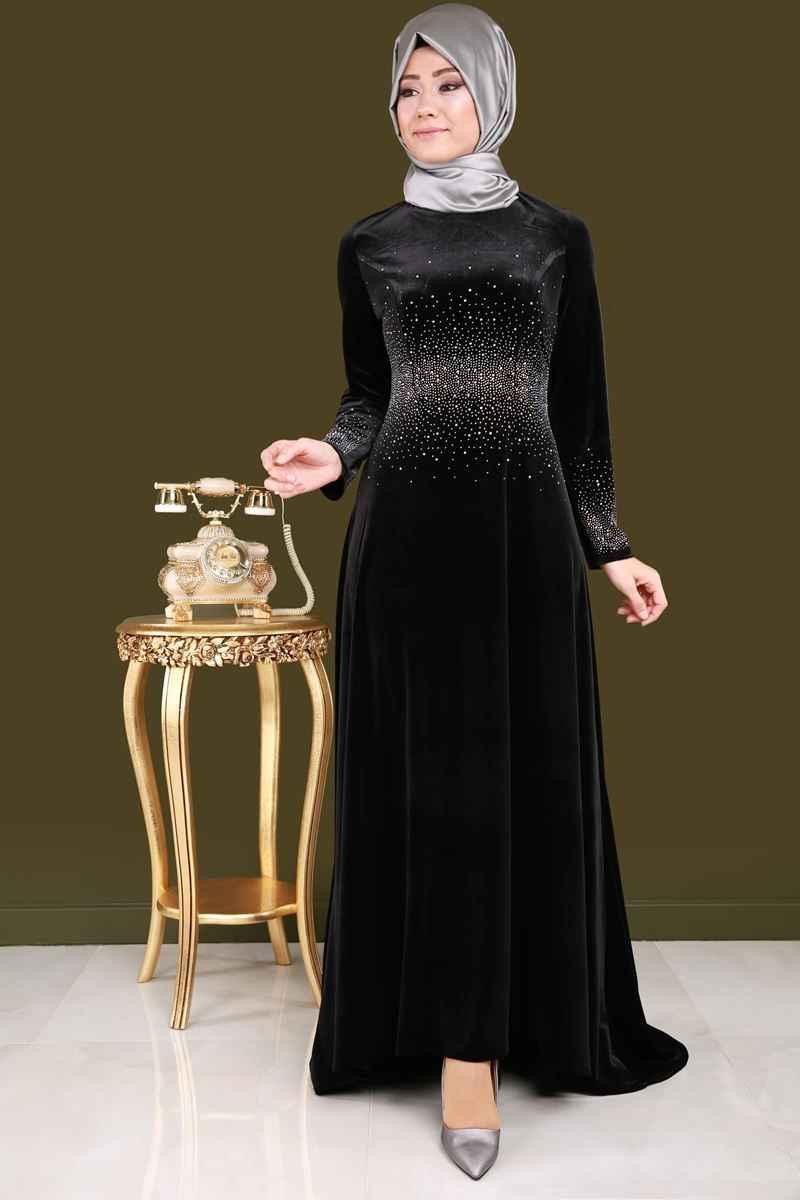 Modaselvim Tesettür Taşlı Elbise Modelleri