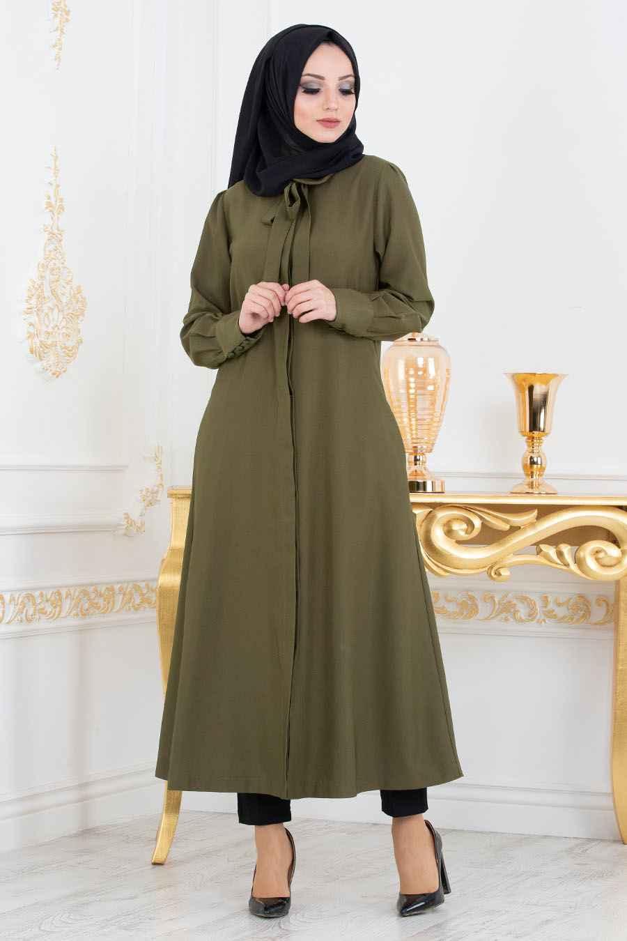 Nayla Collection Tesettür Haki Renk Tunik Modası