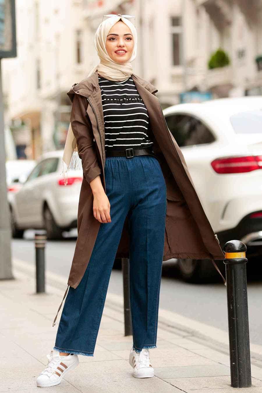 Yüksek Bel Tesettür Pantolon Modelleri