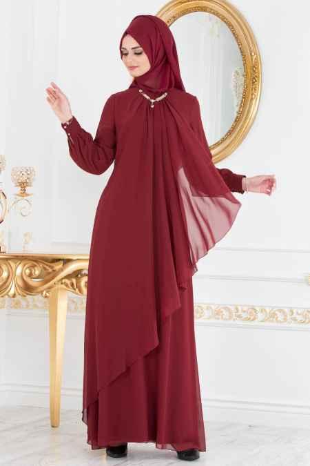 Neva Style Asimetrik Kesim Tesettür Elbise Modelleri