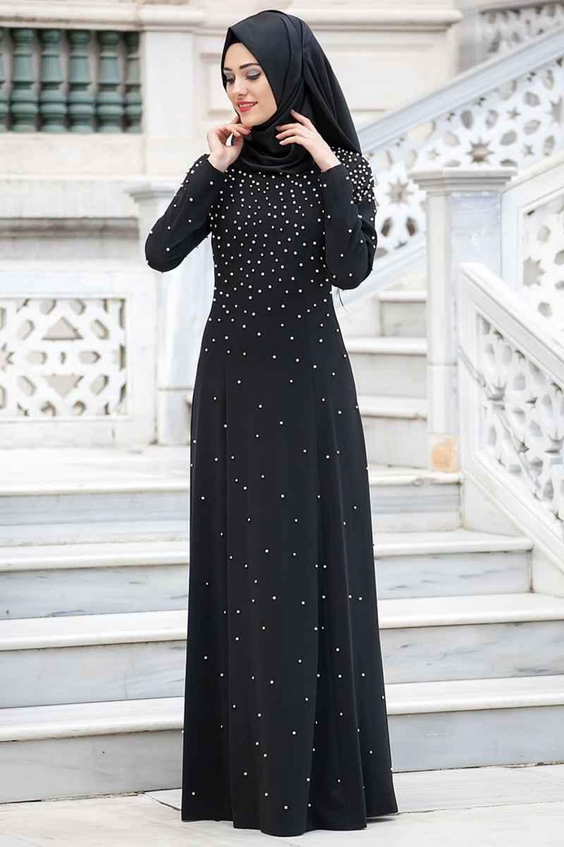 Neva Style Bocuklu Tesettür Elbise Modelleri