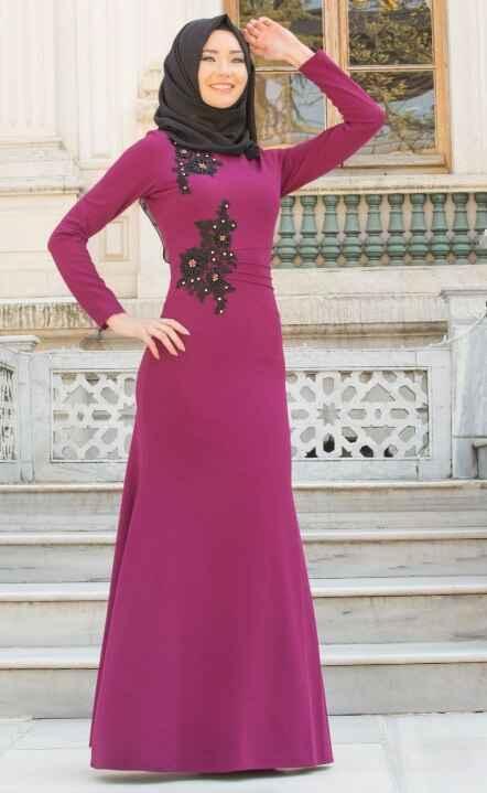 Neva Style Tesettür İşlemeli Elbise Modelleri