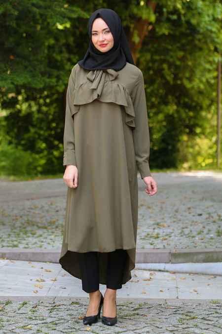 Neva Style Tesettür Arkası Uzun Tunik Modelleri