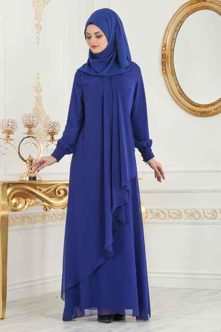 Neva Style Tesettür Asimetrik Kesim Elbise Modelleri