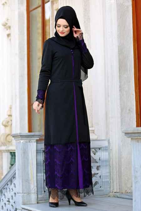 Neva Style Tesettür Dantelli Elbise Modelleri