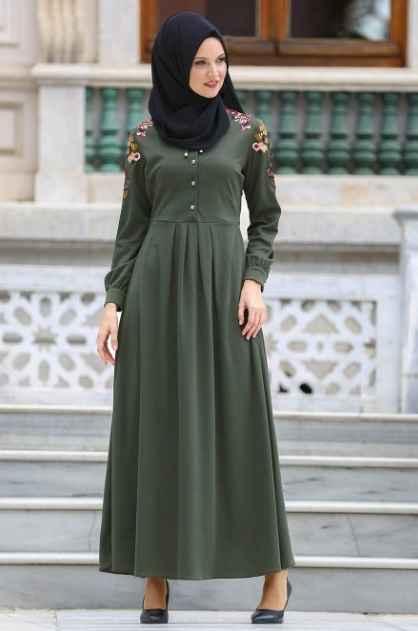 Neva Style Tesettür Nakışlı Elbise Modelleri