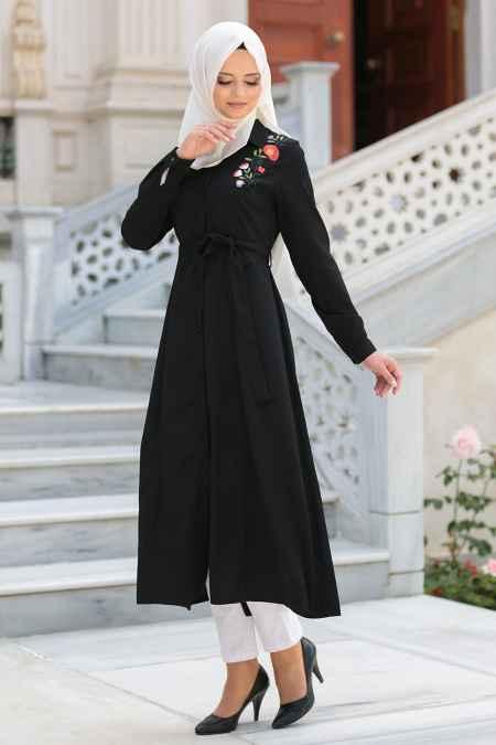 Neva Style Tesettür Nakışlı Uzun Tunik Modelleri