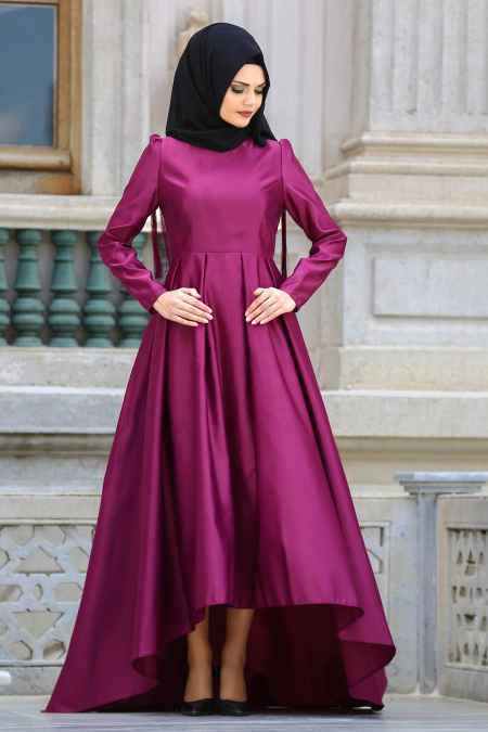 Neva Style Tesettür Omuzları Püsküllü Elbise Modelleri