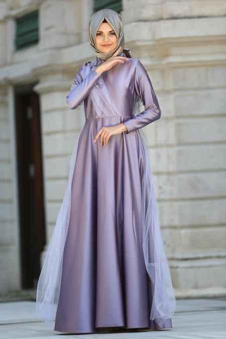 Neva Style Tesettür Tüllü Abiye Elbise Modelleri