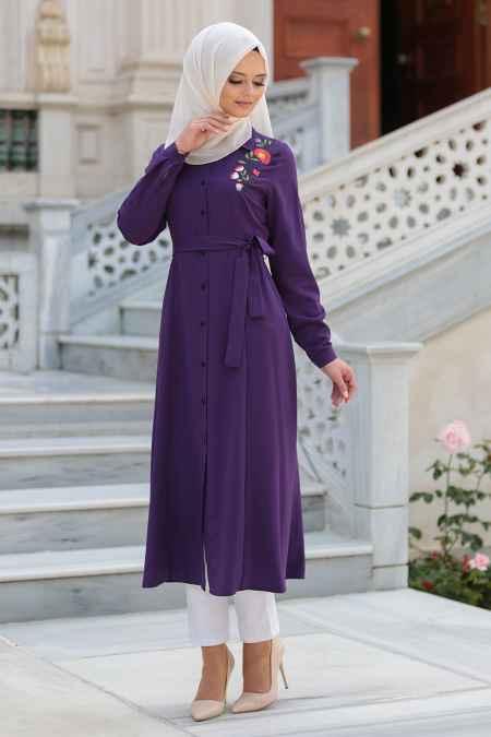 Neva Style Tesettür Uzun Tunik Modelleri