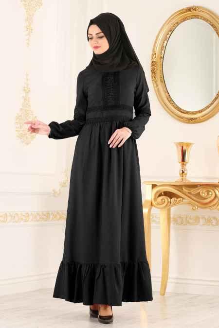New Kenza Tesettür Dantel Detaylı Elbise Modelleri