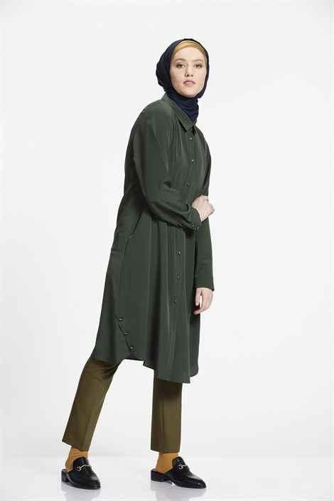 Nihan Düğmeli Tesettür Tunik Modelleri