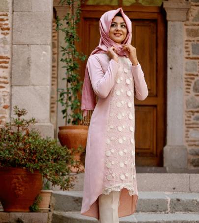 Pınar Şems Özel Gün Tesettür Tunik Pantolon Kombinleri
