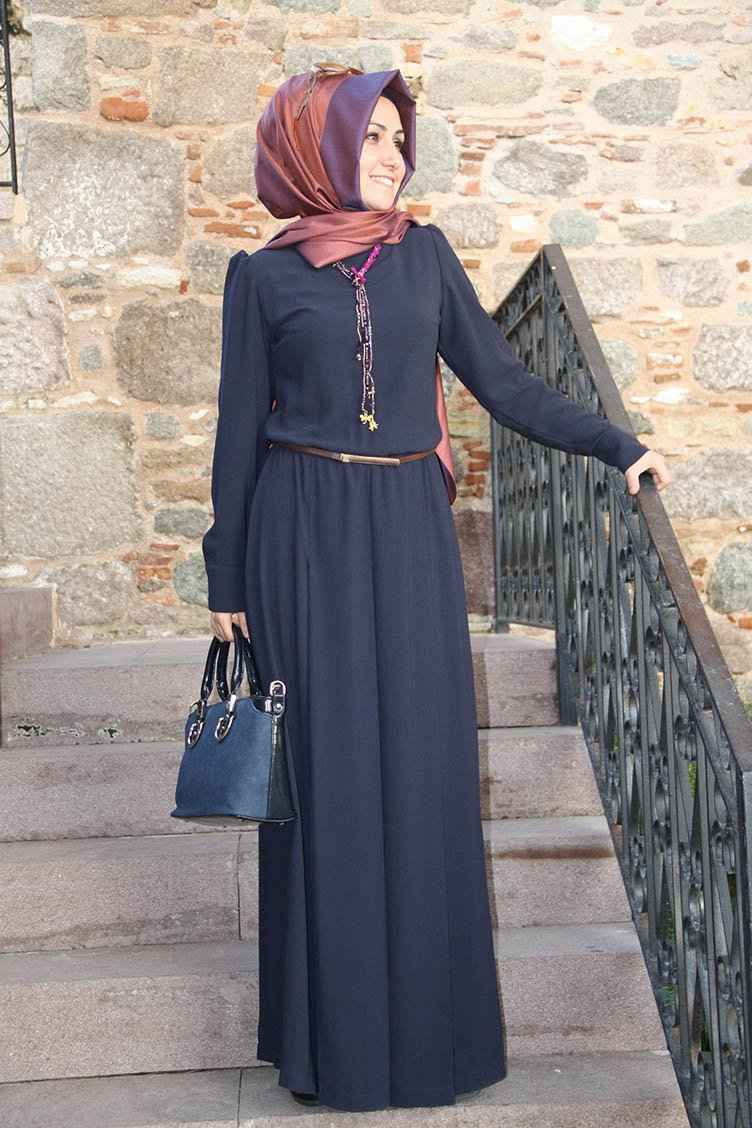 Pınar Şems Kolyeli Şık Tesettür Tulum Modelleri