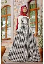 Pınar Şems Tesettür Kazayağı Desenli Elbise Modelleri