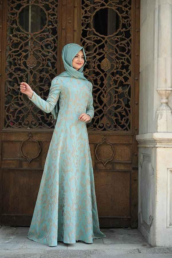 Pınar Şems Tesettür Söz Elbisesi Modelleri