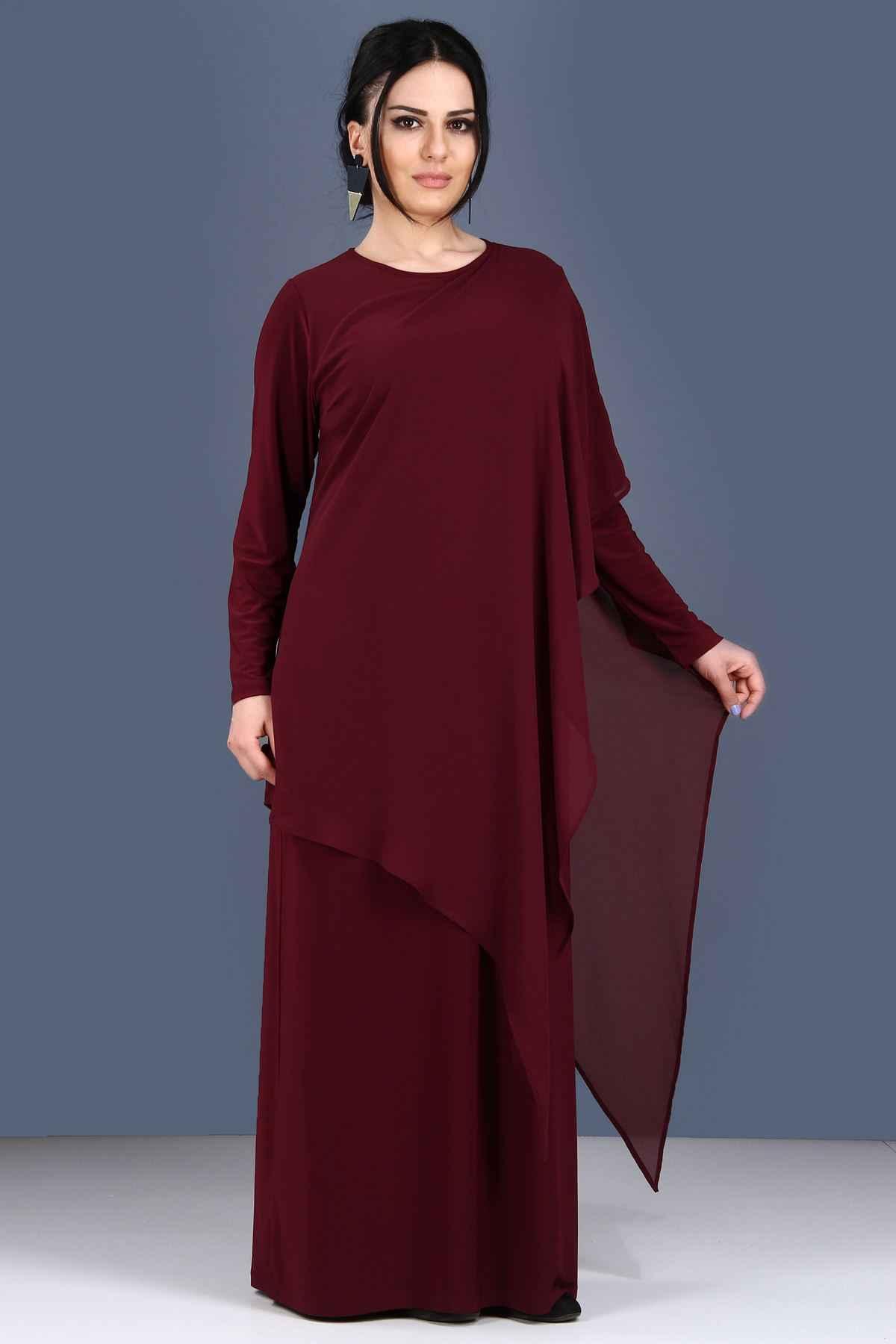 Patırtı Büyük Beden Asimetrik Kesim Elbise Modelleri