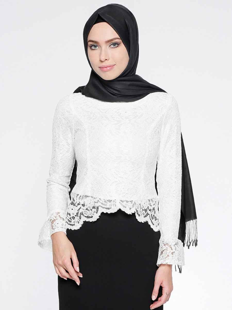 Puane En Güzel Tesettür Bluz Modelleri