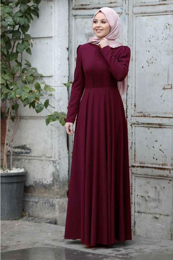 3b7a8cf29c92d Sade Tesettür Söz Elbisesi Modelleri - Moda Tesettür Giyim