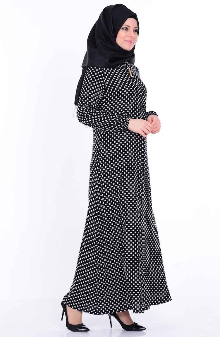 Sefamerve Bağcık Detaylı Tesettür Elbise Modelleri