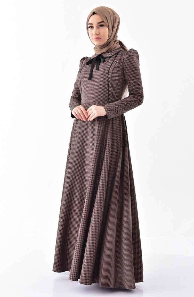 Sefamerve Bebe Yaka Tesettür Elbise Modelleri