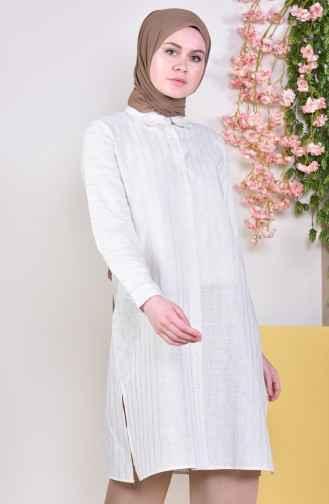Sefamerve Günlük Tesettür Beyaz Tunik Modelleri