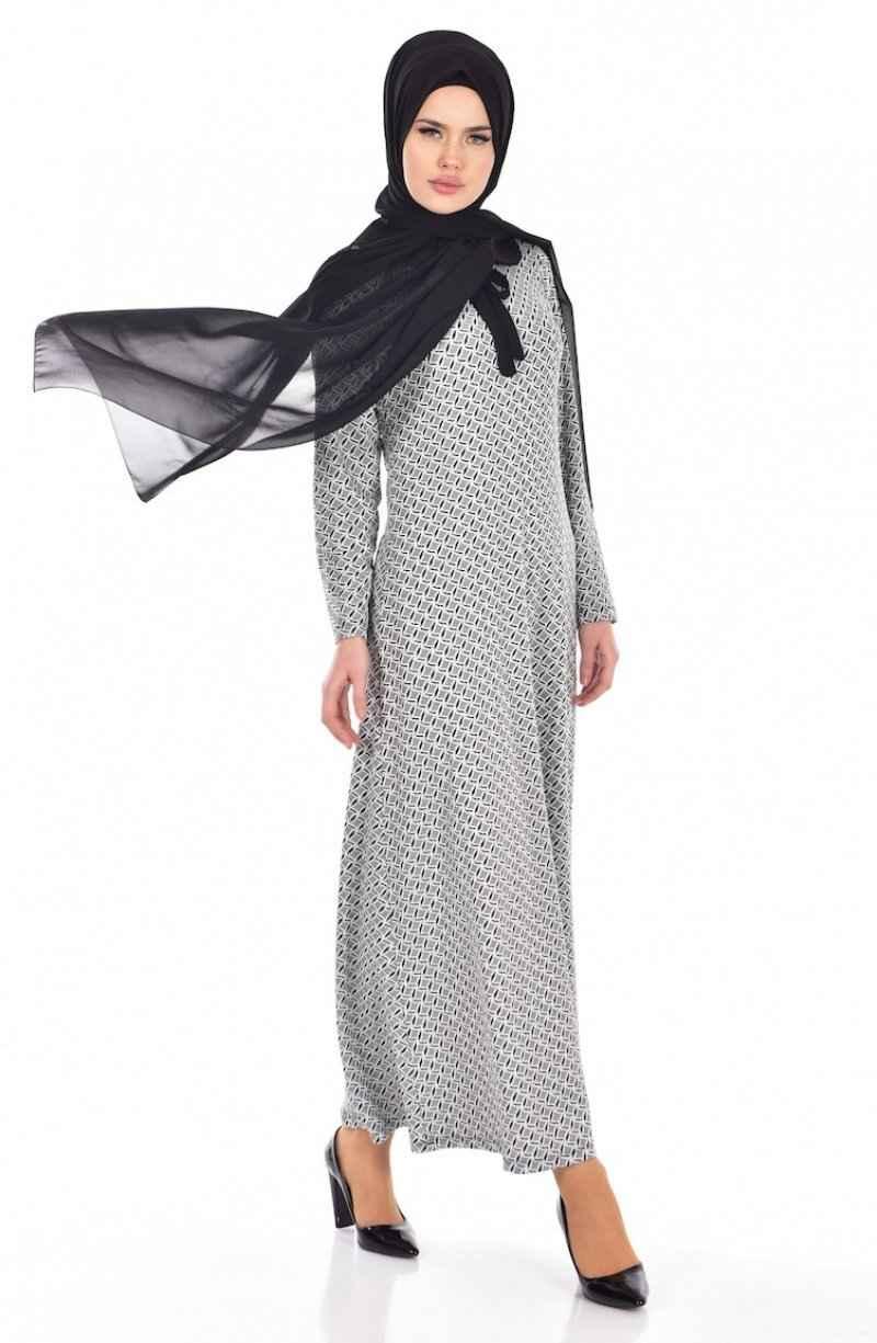 Sefamerve Tesettür Bebe Yaka Elbise Modelleri