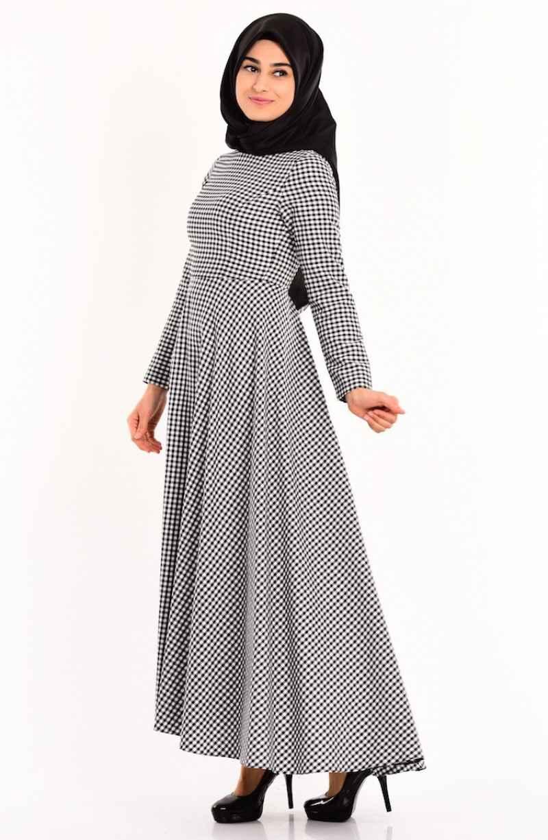 Sefamerve Tesettür Desenli Elbise Modelleri