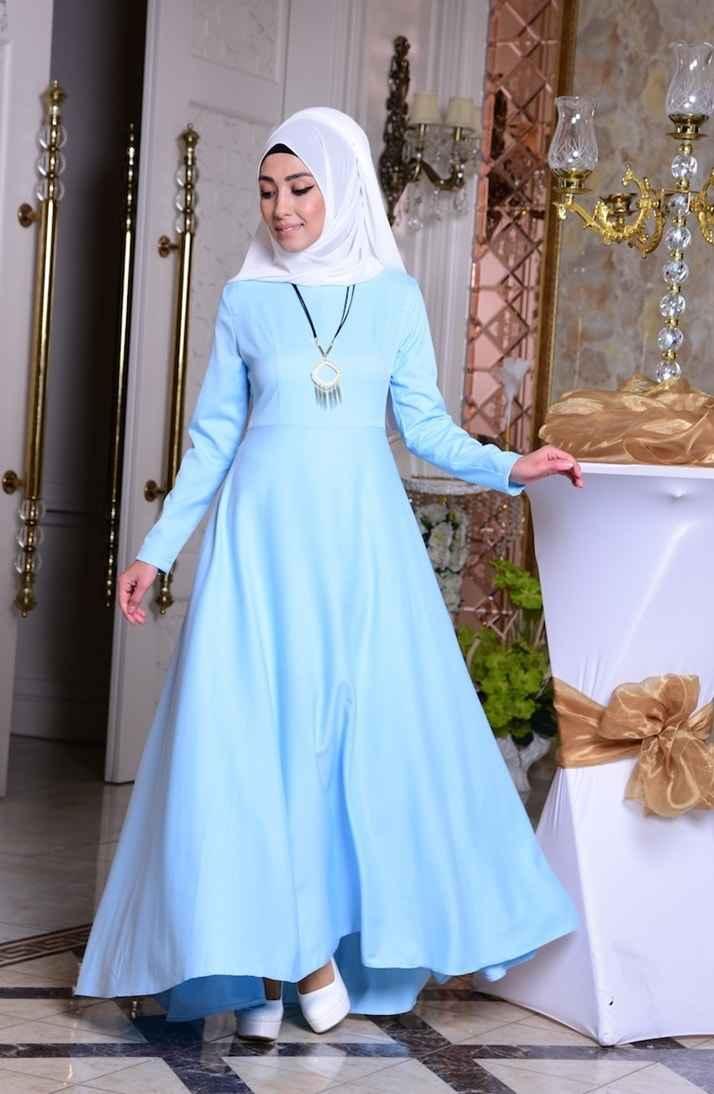 Sefamerve Tesettür Kolyeli Elbise Modelleri
