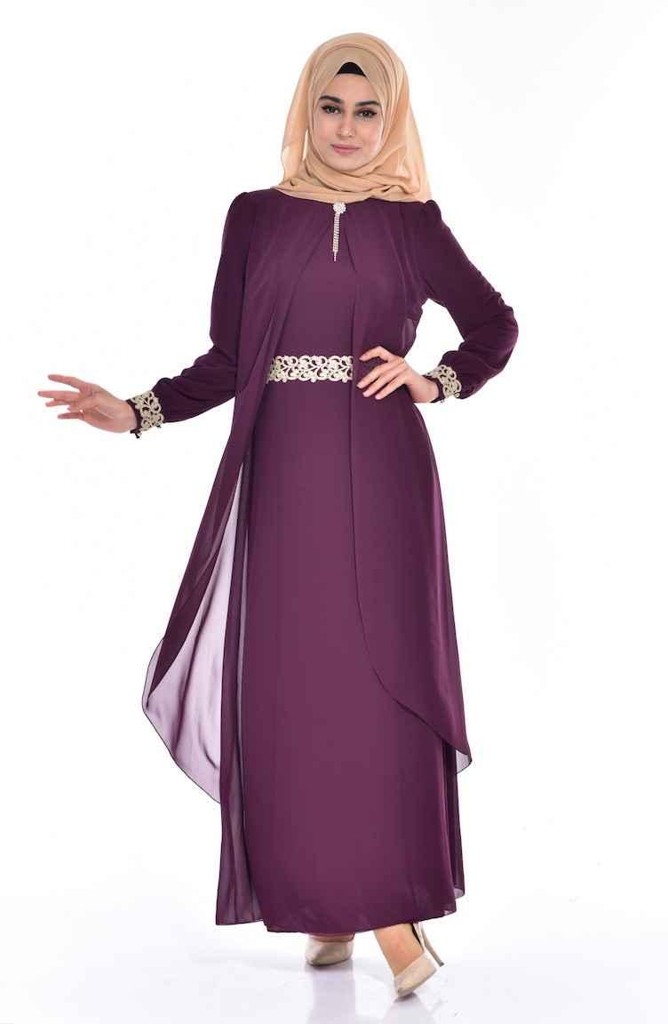 Sefamerve Tesettür Pelerinli Elbise Modelleri