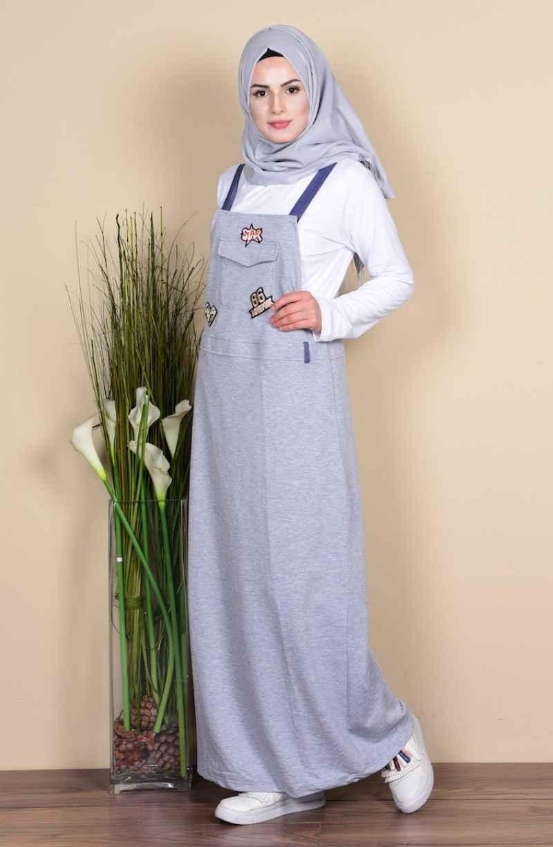 Sefamerve Tesettür Salopet Elbise Modelleri